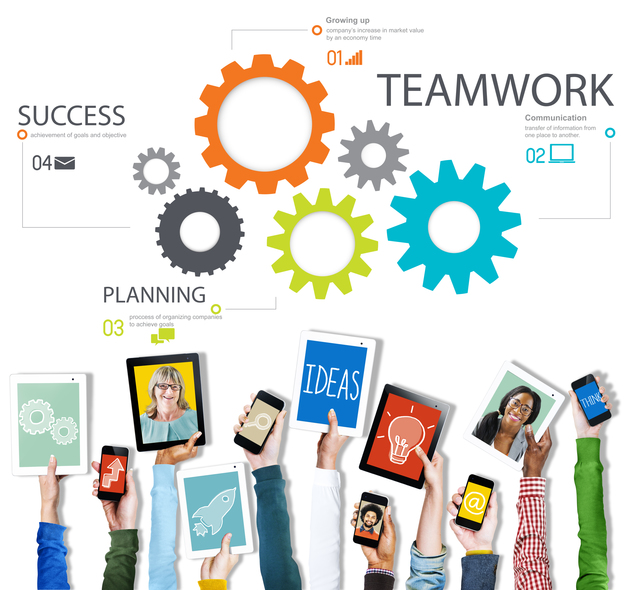 Teamwork Team Collaboration Connection Togetherness Unity Concep