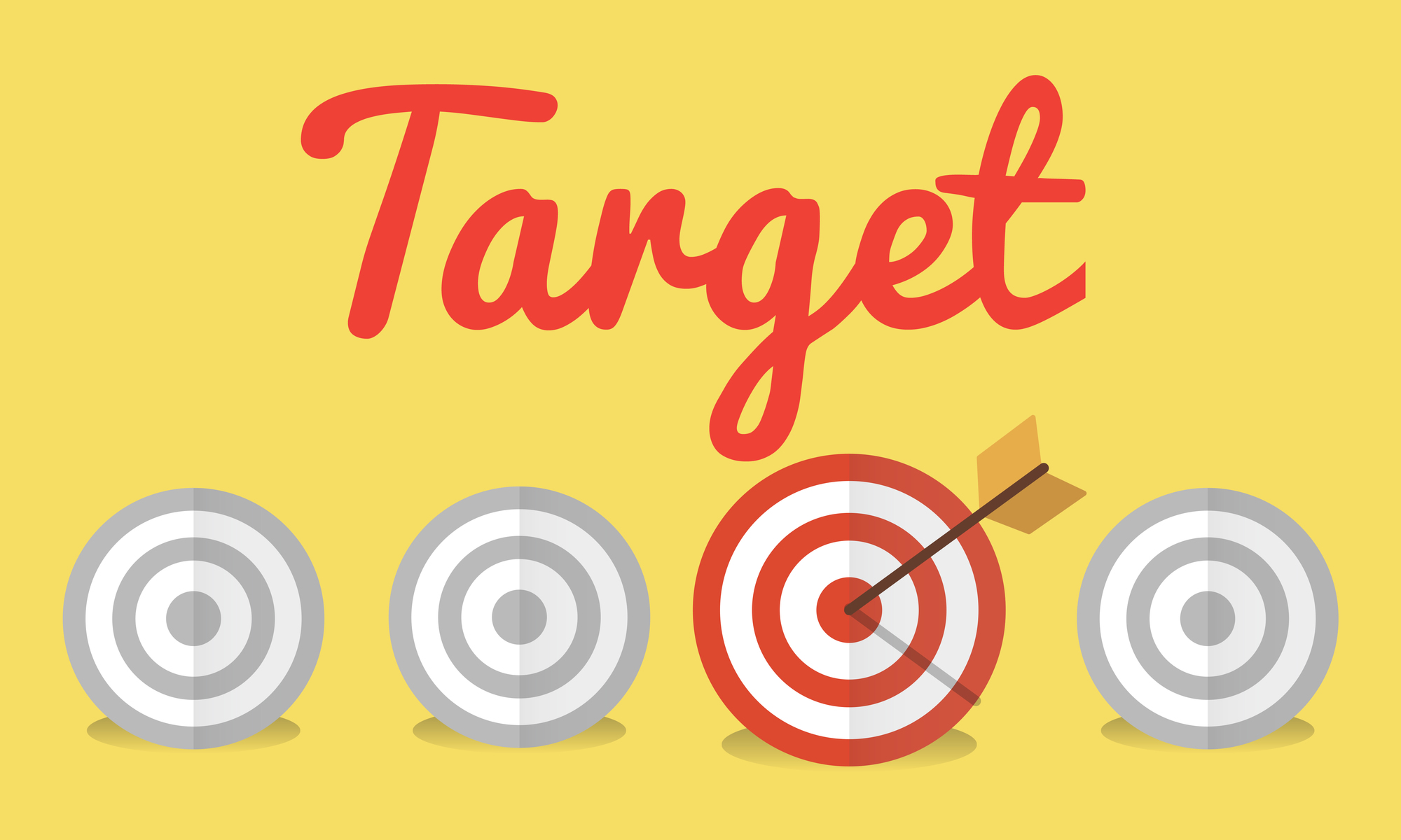 Target Goal Mission Strategy Icon Concept