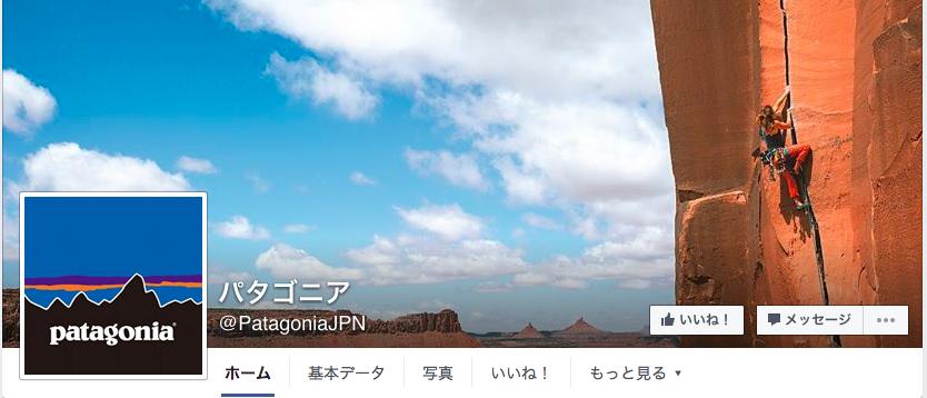 パタゴニアFacebookページ(2016年6月月間データ)